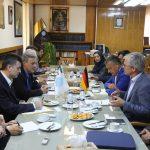دیدار مسئولان سه موسسه دانشگاهی آلمان با رییس دانشگاه تهران